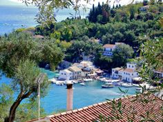 The beautiful village of Loggos, Paxoi Island, Greece