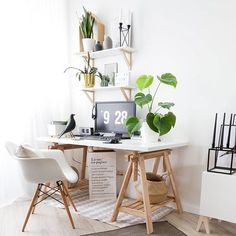 Back to work after long weekend outside ... #interiorsdesign #scandinavianliving #interiordeco #interiorlover #interiorism #interiors4all #interiorwarrior #interior_design #interiørtips #whiteinteriors #shelfies #ikeafamily #scandinaviandecor #nordicdeco #workspacegoals #interiordecorate #interiordecoratingideas #interiordecorators #nordicdecor #workspaceinspo #interiordecorations #workspacestyling #homeofficeideas #homeofficedecor #scandinavianinteriors #finnvard #ikeafinnvard #monstera...