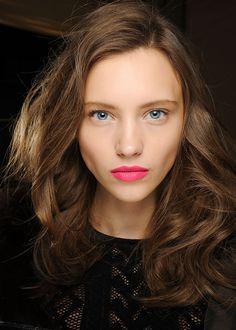 bright, matte, complexion and fuschia lips