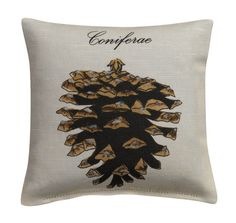 Coniferae Pine Cone Sachet Filled with by LeslieEvansDesigns.  She can make this a 16x16 pillow by special request!