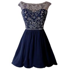 Dressystar Short Homecoming Party Dress Sparkling Bateau Prom Evening... ❤ liked on Polyvore featuring dresses, prom dresses, sparkly prom dresses, sparkly dresses, short homecoming dresses and short length dresses