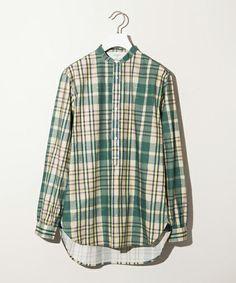 【STUDIOUS TOKYO】バンドカラープルオーバーチェックシャツ(シャツ/ブラウス)|STUDIOUS TOKYO(ステュディオス トウキョウ)のファッション通販 - ZOZOTOWN