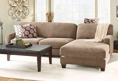 Stretch Pique Two Seat with Chaise Sectional Covers; Form-fitting and easy to install. #sectional #slipcover
