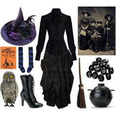 victorian-inspired witch costume