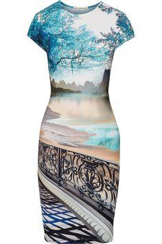 MARY KATRANTZOU Printed jersey dress. #marykatrantzou #cloth #dress