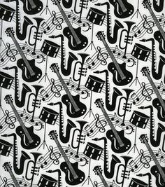 B+W Music fabric