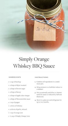 Orange Whiskey BBQ Sauce recipe and drizzle it over chicken, pork ...