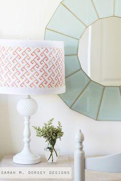 stenciled lampshade | sarah m. dorsey designs