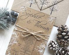 Winter Wedding Invitation Snowflake Invitation Elegant   Etsy Snowflake Invitations, Christmas Wedding Invitations, Glitter Invitations, Handmade Wedding Invitations, Elegant Invitations, Wedding Invitation Templates, Invitation Floral, Wood Invitation, Invite