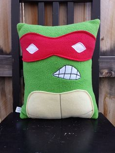 Ninja Turtle, pillow, plush, cushion, raphael, leonardo, michael angelo, donatello