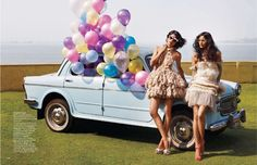 how much more would i love this shot if the balloons were coming out of a vw van????