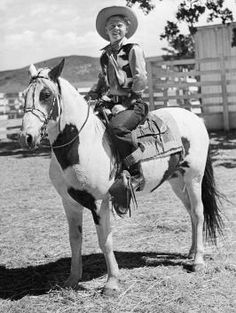 1938, Promotional portrait of American actor Mickey Rooney, as Andy Hardy, sitting on a horse for the film, 'Out West with the Hardys' direc... Love the Andy Hardy movies.