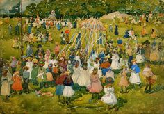 The Athenaeum - May Day, Central Park (Maurice Prendergast - )
