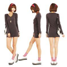 New-Casual-Womens-Sexy-V-Neck-Long-Sleeve-T-shirt-Warm-Tee-Shirt-Tops-Hot-Sale