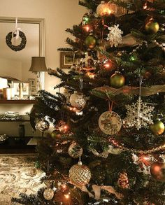 vintage decoration christmas tree