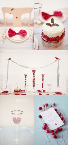 Holiday Photo Shoot by Simply Bloom Photography | Style Me Pretty- this party feels very snow white to me