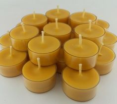 Pack Of 12 ORGANIC Beeswax Tea Light Candles No Addictives Beeswax TeaLight Best Price Handmade LIMI