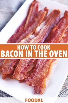 This is the best method for cooking bacon in the oven. It's extremely quick, easy, and saves you from having to hover over the stove as it cooks. The breakfast meat gets crispy and it comes out perfectly cooked every single time. Eat it as is or use it in recipes. Read more now on Foodal. #bacon #easybreakfast #foodal Breakfast Meat, Breakfast For Dinner, Perfect Breakfast, Brunch Recipes, Meat Recipes, Breakfast Recipes, Bacon In The Oven, Cooking Bacon, Food Facts