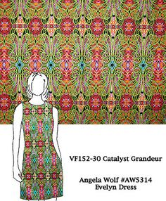 VF152-30 Catalyst Grandeur - Celtic Inspired Cotton Broadcloth Print Fabric