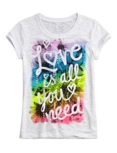Love Is All You Need Graphic Tee | Girls Graphic Tees Clothes | Shop Justice