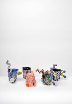 Joey Watson mugs from the I'm Revolting Ceramics Shop at Sight Unseen OFFSITE