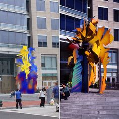 Epoch 2004 WashingtonDC. Images from an initial design idea to completion.  Albert's large-scale public sculpture evolves through every stage of a design life cycle.  Variables such as client requests engineering requirements and even site or installation limitations can all impact the final piece.  #publicart