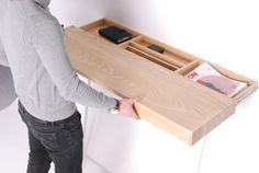 RV desk/shelf/table with storage underneath?