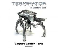 Terminator Genisys - Spider Tank Miniature