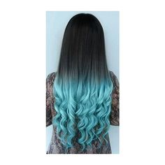 29 Blue Hair Color Ideas for Daring Women ❤ liked on Polyvore featuring accessories, hair accessories and blue hair accessories