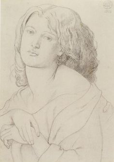 Dante Gabriel Rossetti - 'Fanny Cornforth', graphite on paper, 1869