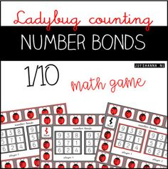 Hello everyone! I made a math game, friends to 10, perfect for centers, math groups, or even homework! This file contains 3 game boards for students to practice number bounds/friends to 10. All game boards are in color. Each game board has a different way of counting the dots on the ladybugs.