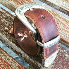 Custom made leather cuffs by Twisted Root Designs