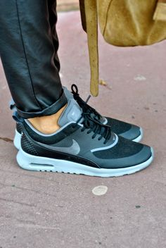 Boots & Plume - Blog Mode Toulouse: Nike Air Max Thea disponible ici : http://www.def-shop.fr/nike-air-max-thea-sneakers-black-grey.html?refKey=qxJ2po0kv?smm=fr.pinterest.post