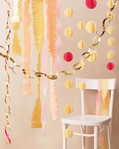 If your mom loves DIY she'll adore a decoration you made for her. This paper garland with snipped sides is simple to make and beautiful to boot.     Get the Fringed Streamer How To