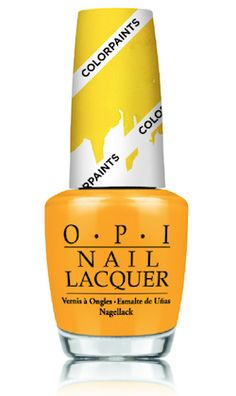 Primarily Yellow from @opiproducts  New Color Paints Blendable Nail Lacquer is stunning!