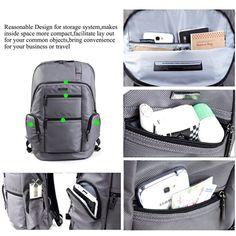 Amazon.com: Laptop Backpack, KINGSONS 15.6 Inch Shockproof Luggage Rucksack…