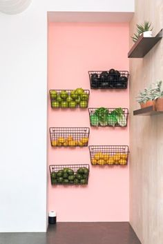 Food Storage Ideas That Will Make Your Kitchen Look Even Nicer - - There are plenty of solutions that make it easy to extend the lifetime of your food and elevate the appearance of your space all at once. Craft Room Storage, Food Storage, Storage Ideas, Diy Storage Solutions, Kitchen Wall Storage, Produce Storage, Cafe Bar, Kitchen And Bath, New Kitchen