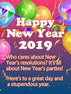 59 Best New Year S Cards 2019 Images Happy New Year 2019 Hd Picture