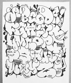 Graffiti Art Drawings, Graffiti Alphabet Styles, Graffiti Lettering Alphabet, Graffiti Words, Graffiti Writing, Graffiti Tagging, Graffiti Characters, Graffiti Murals, Street Art Graffiti