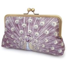 Clutch bag, silk purse, peacock feathers, bridesmaid gift, LAVENDER... ($85) ❤ liked on Polyvore featuring bags, handbags, clutches, purses, hand bags, silk purse, handbags purses, purple purse and lavender handbag