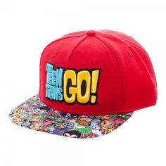 Cartoon Network Teen Titans Go! YOUTH Sublimated Bill Snapback Cap Hat NEW Kids