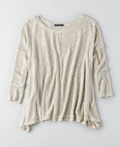 AEO Feather Light Pullover Sweater, Women's, Brown