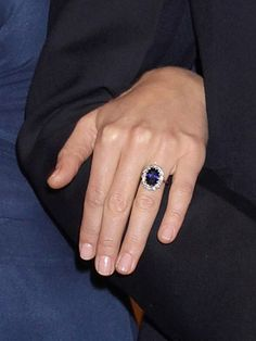 """The Beauty Tips We've Learned From Kate Middleton: Celebrity Trends: allure.com When your engagement ring is an 18-carat sapphire last worn by the most photographed woman in history, you don't want to upstage it with a color-of-the-moment polish. Middleton's nails are always pale pink and neatly trimmed. Essie Nail Polish in """"Mademoiselle"""" is a perfect shade."""