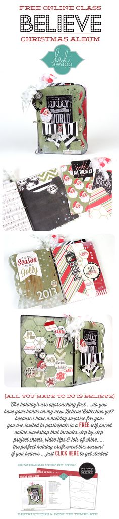 FREE Online class from #heidiswapp featuring #epiphanycrafts! #scrapbook #christmas