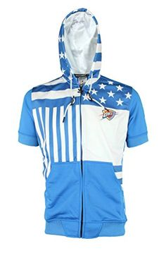NBA Men's Flag Short Sleeve Hoodie, Team Options - Oklahoma City Thunder, Large  http://allstarsportsfan.com/product/nba-mens-flag-short-sleeve-hoodie-team-options/?attribute_pa_color=oklahoma-city-thunder&attribute_pa_size=large  100% Polyester Terry cloth lining Two front pockets