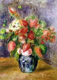 Vase of Flowers, c.1909 (oil on canvas), Renoir, Pierre Auguste (1841-1919)