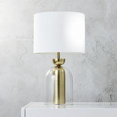 bell jar table lamp  | CB2