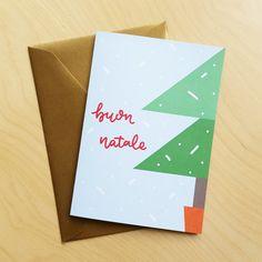 Albero di Natale Buon Natale cartolina di Natale in