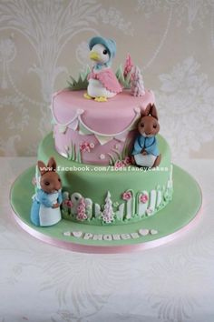 Jemima puddle-duck and Peter rabbit cake - Cake by Zoe's Fancy Cakes