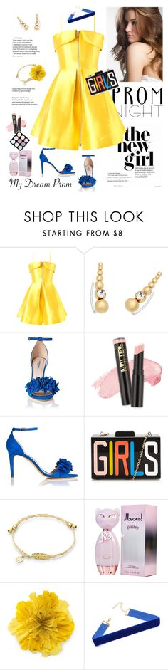 """""""Prom Night"""" by ellie366 ❤ liked on Polyvore featuring Alex Perry, Michael Kors, Gucci, Prom, PROMNIGHT, choker, yellowdress and embellishedshoes"""
